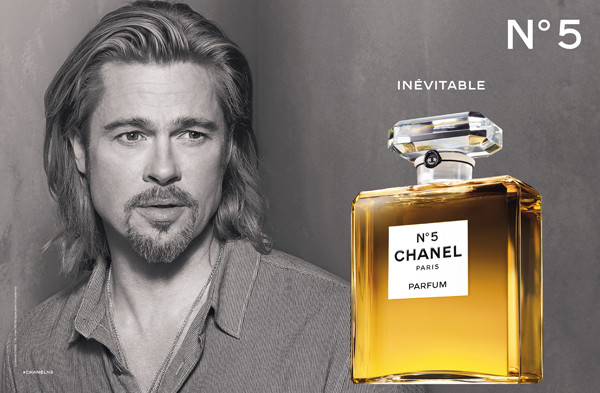 Brad Pitt is the first man to represent N°5