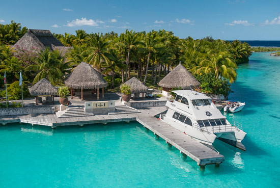 bora-bora resort on water