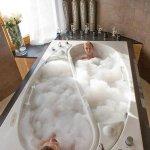 After travel: Yin Yang couple bath