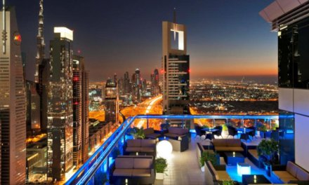 Sky high bar crawl in Dubai