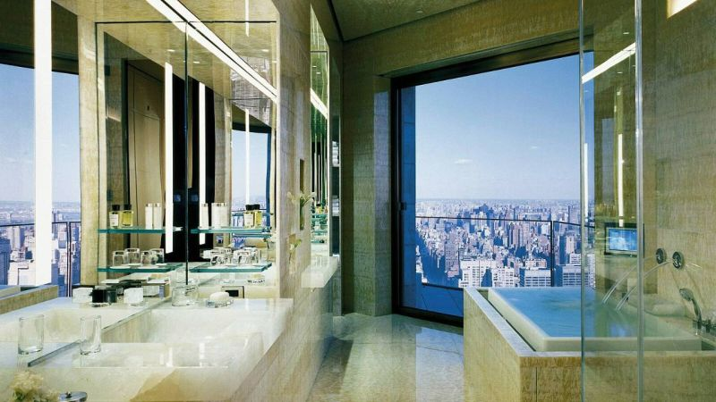 Ty Warner Penthouse Four Seasons Hotel Master bathroom
