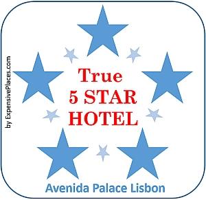 true 5 star HOTEL AWARD avenida