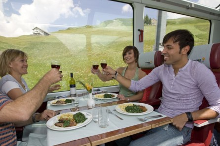 Glacier Express food