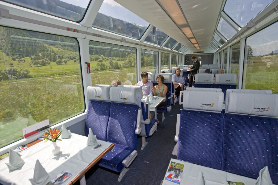 Glacier Express inside photo