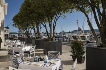 Regent Porto Montenegro Dining Room outside garden