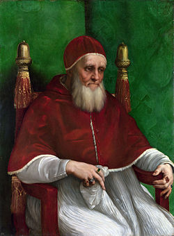 Portrait of Pope Julius II, Raphael