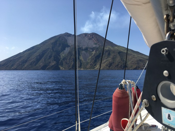 Stromboli from sailing boat
