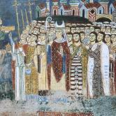 The inhabitants of Anagni give gifts to Muca
