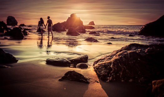 Sunset at Mile Rock Beach