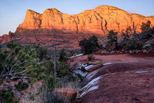 This is the view from Bell Rock in Sedona. I was here over the New Years and the weather was spectacular, cool in the evenings and warm in the day. Now I suspect with summer approaching its much much warmer. These rock formations are so unique that it's all you can do to pull over and stare for a half hour. It's not something that's too common here on Earth, Mars perhaps, but not here. I lingered here so long that when the sun fell below the rocks it got dark very quickly and so I ended up using the light on my iPhone to make my way back to the parking lot. Note to self, bring a flashlight next time.