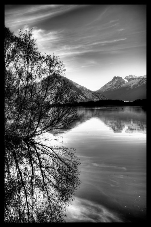 This is Glenorchy in the early morning when the water is still and the light is perfect. I never realized that black swans existed before I came to New Zealand, I thought they were just in fairy tales or perhaps a rare genetic oddity. But in New Zealand the black swans are in the lakes and ponds of the southern island in abundance. Perhaps if I grew up here I'd be used to it but as a visitor I was amazed each time I saw one. This morning I saw dozens, too many to count. I suspect Glenorchy  is a kind of sanctuary, and give the magical landscape it might as well be a fairy tale.