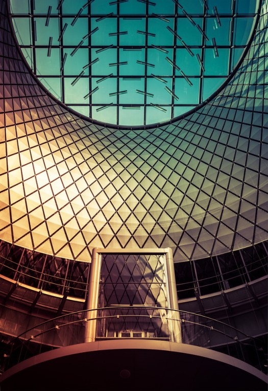 Fulton Station is in downtown New York. There are several entrances and this seems newer than the rest. We were suppose to meet some people near here and while we walked inside to get a few shots of the architecture. Just one of a million locations to shoot in Manhattan.