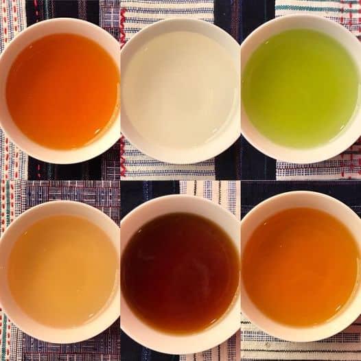 6 couleurs thé