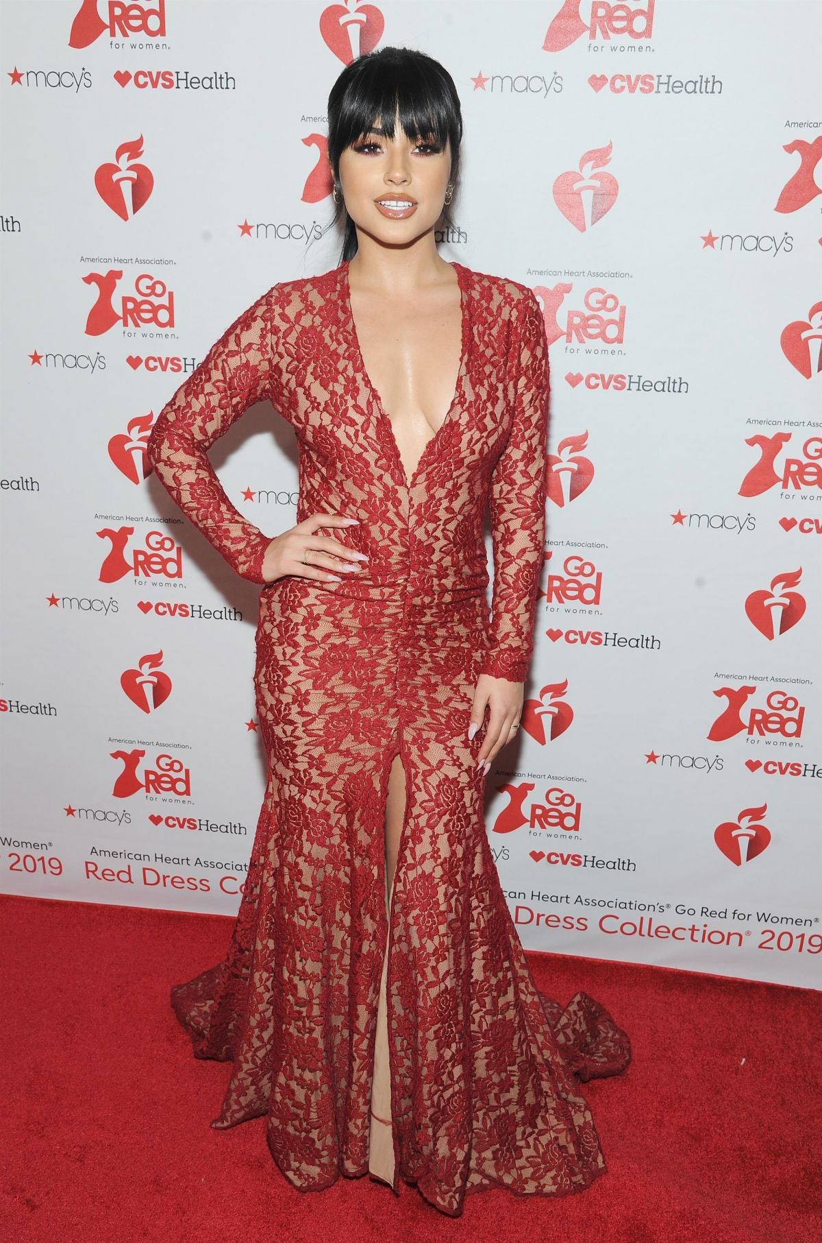 Celebrity Dresses Becky G At American Heart Association