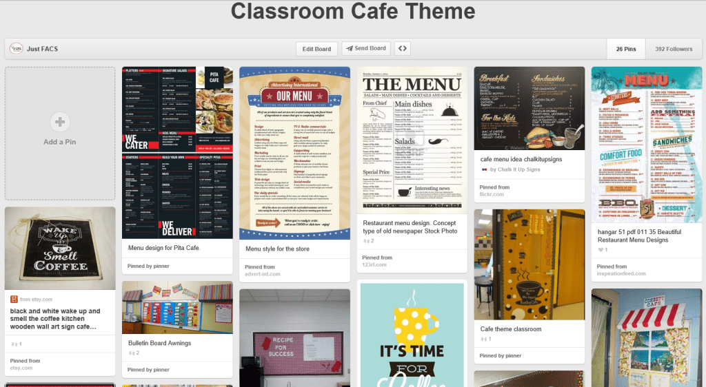 cafe theme pinterest board