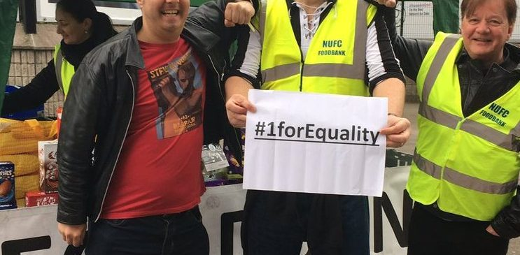 NUFC Fans Foodbank #1forEquality