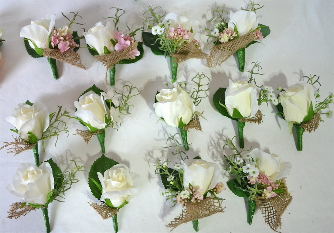 Silk Buttonholes And Corsages Plus Flower Girls
