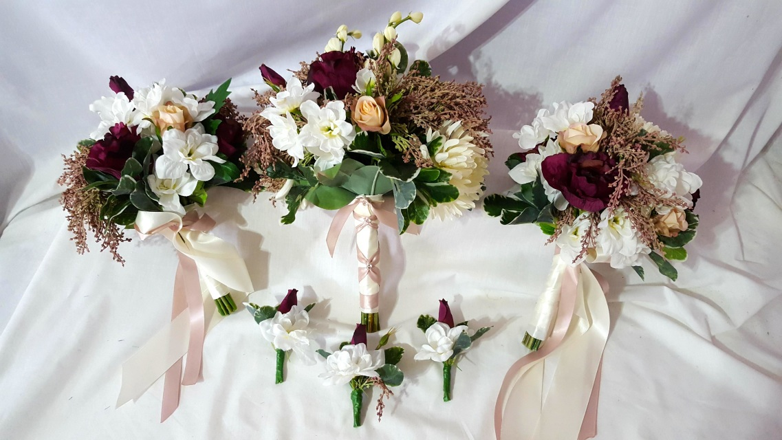 Pre Made Cheap And Discounted Silk Wedding Flower Packages