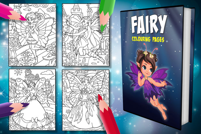 free fairy colouring pages