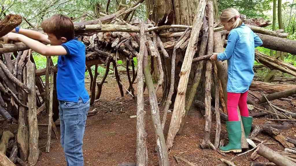 Family Outdoor Activities Den Building