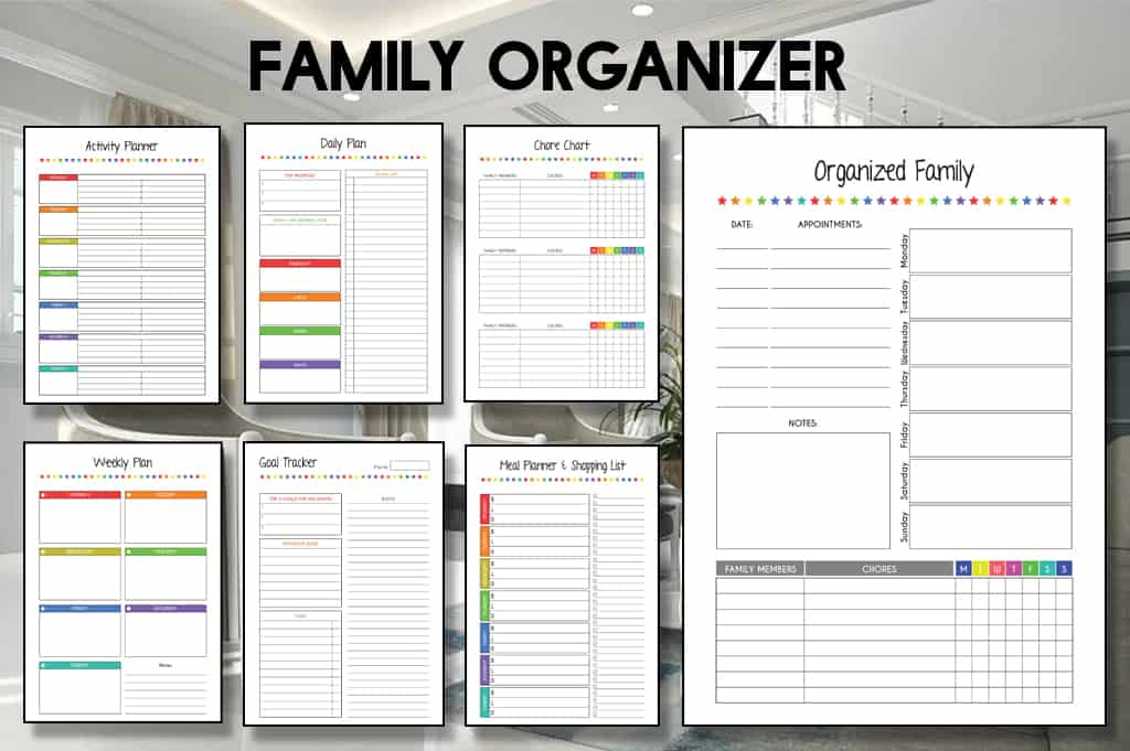Free Printable Family Planner, Meals, Activities & Many More
