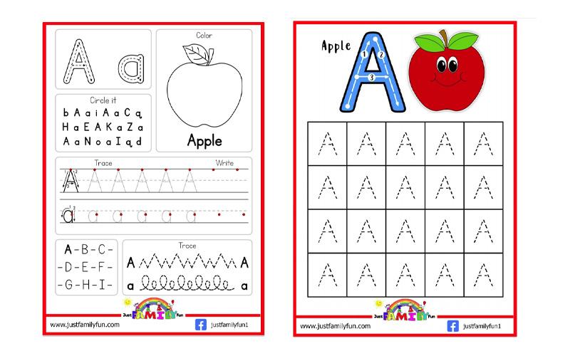 trace the alphabet worksheet samples
