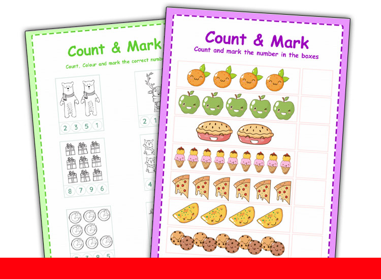 count and marking worksheets