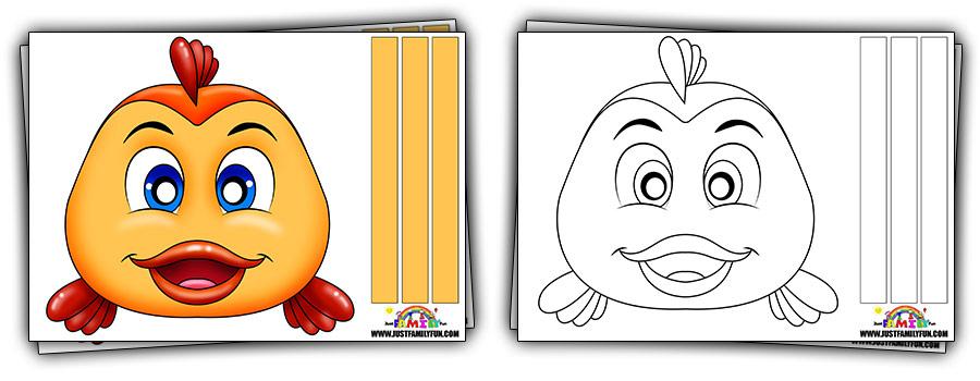 Printable Fish Face Mask Templates