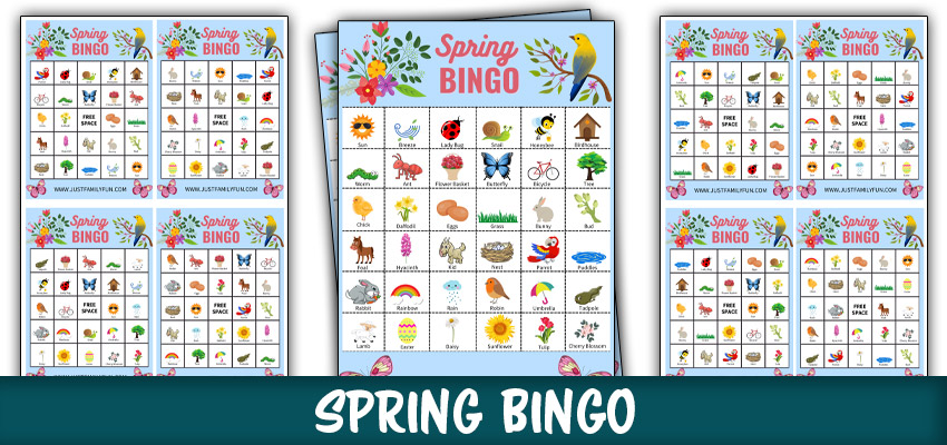 Printable Spring Bingo Game