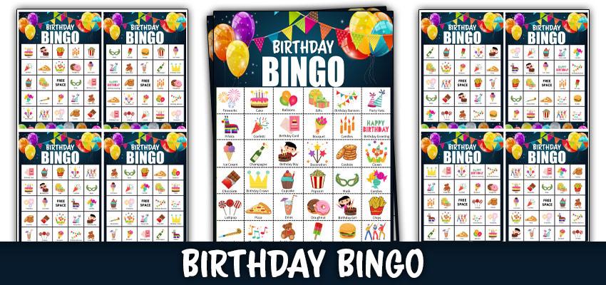 birthday bingo printable