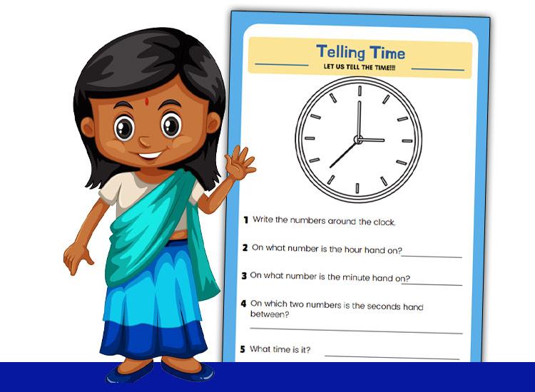 worksheet to help keis read clock face