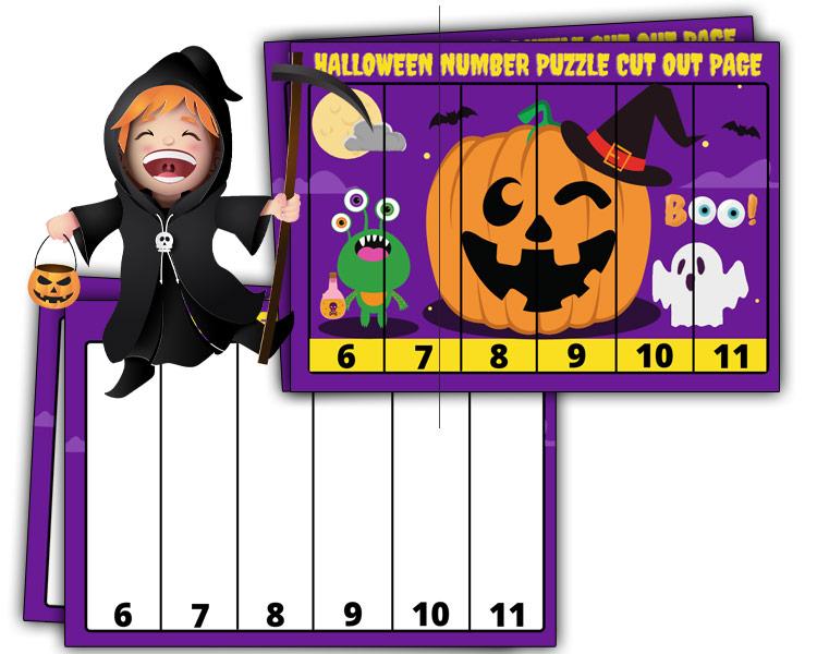 halloween puzzles kids