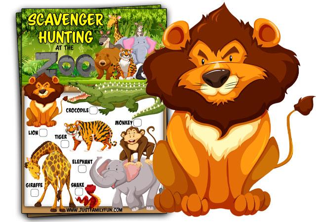 Zoo Scavenger Hunt