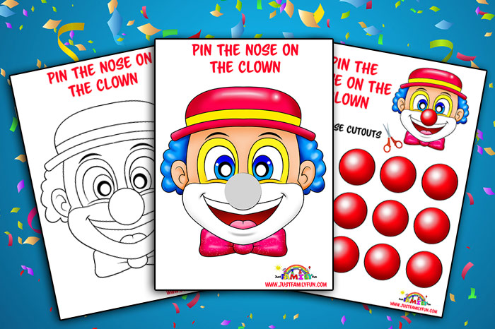 pin the nose on the clown