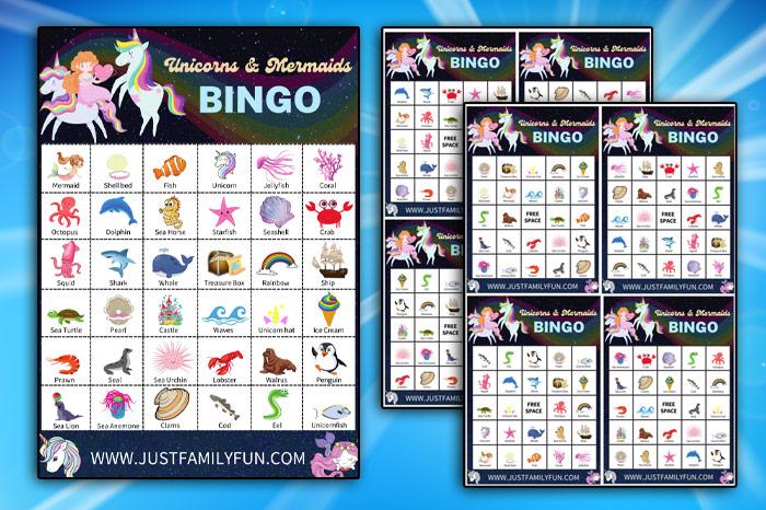 printable unicorn bingo