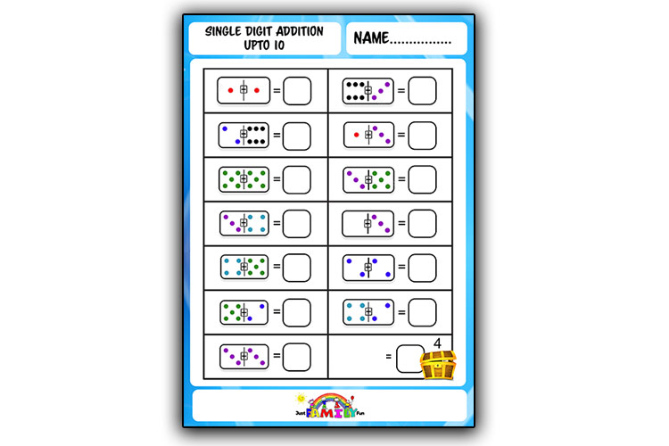 Single Digit Addition Counting