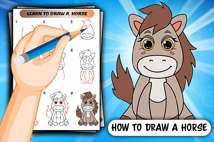 How To Draw A Horse Step By Step Guide