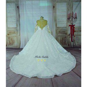 luxury illusion wedding gown