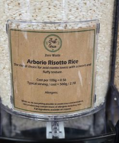 Risotto Rice (Arborio) in the Just Gaia zero waste grocery in Halifax, West Yorkshire