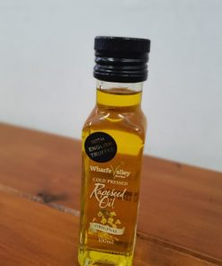 English truffel rapeseed oil resting in its bottle at Just Gaia plastic free shop