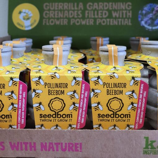 Pollinator Beebom in retail display box from the Kabloom Seedbom in Halifax Just Gaia