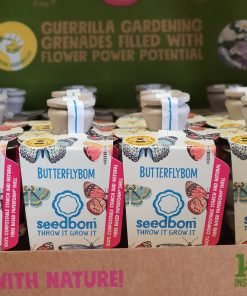 Butterflybom in retail display box from the Kabloom Seedbom in Halifax Just Gaia