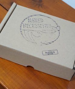 Plastic free safety razor shaving kit: closed box at Just Gaia, Halifax UK