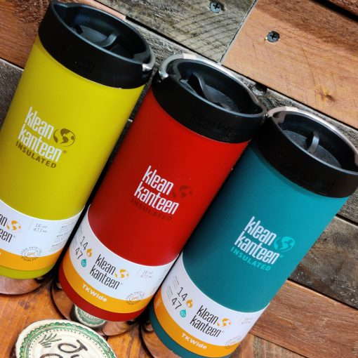 Klean Kanteen 16oz large insulated coffee cup trio in Just Gaia