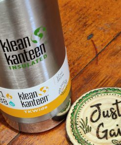 Klean Kanteen 12oz TKWide Insulated coffee cup in brushed stainless