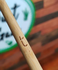 Bamboo Truthbrush Toothbrush handle close up