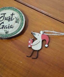 Crimbo Hanging Mouse Christmas Decoration selection of pose 2 in Just Gaia
