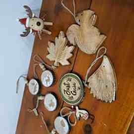 Rudi wooden reindeer Christmas decoration in Wooden Christmas Decorations pack