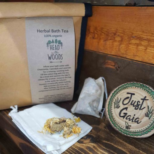 Herbal Bath Tea Gift Set on display at Just Gaia, UK