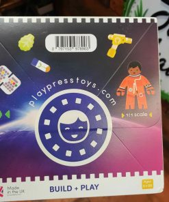 Plastic Free Space Station Playset in the Just Gaia Children's toys range at Just Gaia. Back view of the box.